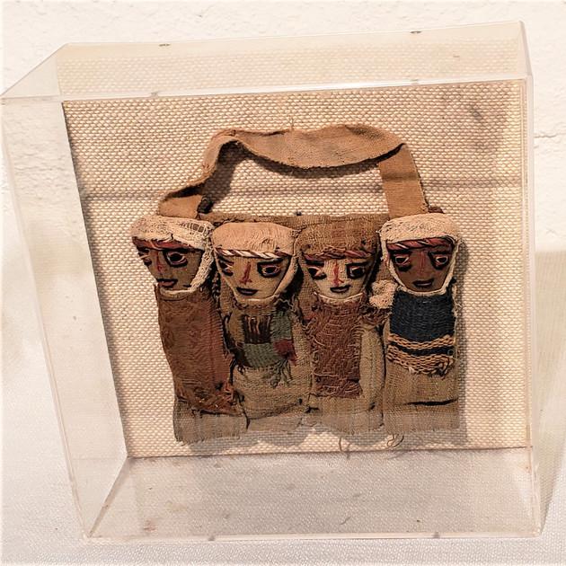 Antique Dolls in Lucite Box