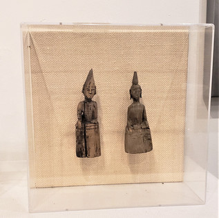 17th Century Thai Monks II in Lucite Box
