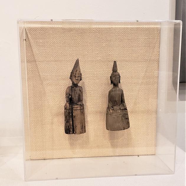 17th Century Thai Monks II in Lucite Box