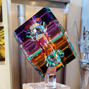 Acrylic Cube on Stand 14/15