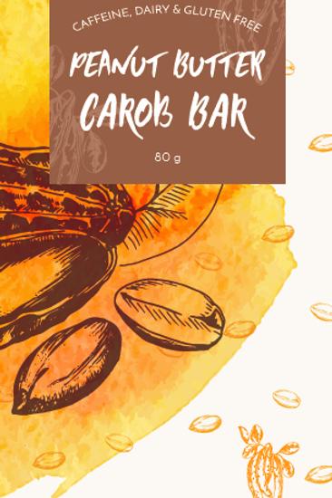 Peanut Butter Vegan Carob Bar 80g