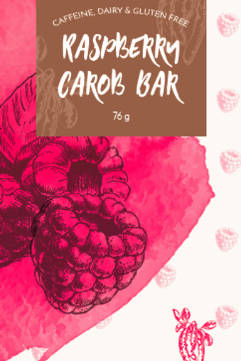 Raspberry Vegan Carob Bar 76g