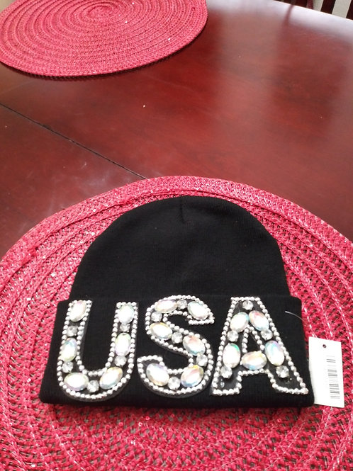 Bling-Bling Black USA Winter Beanie