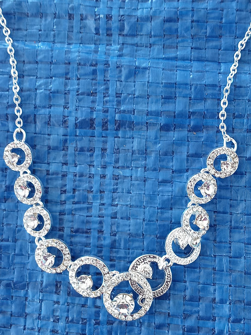 Bling Bling Silver Circle necklace
