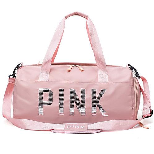 Light Pink Sequin Duffel Bag