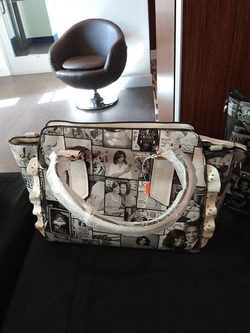 Large Michelle Handbag Black & White