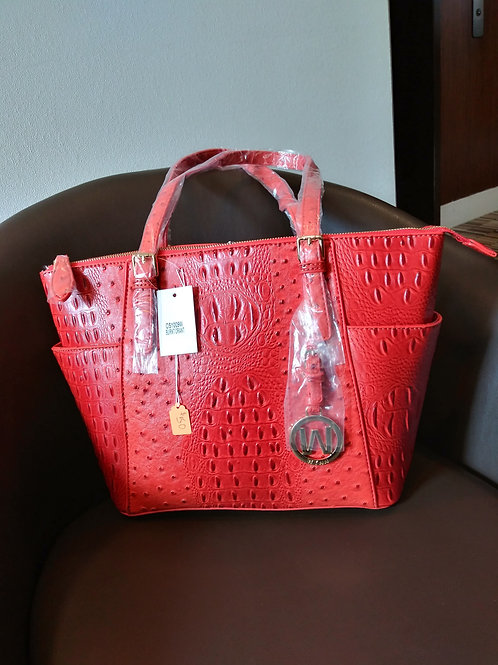 Designer Handbag - Burnt Orange Ostrich