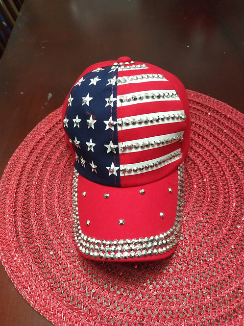 Red White and Blue Baseball Cap