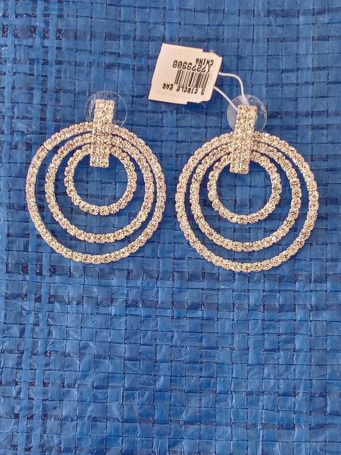 Bling Bling Silver Post Earrings