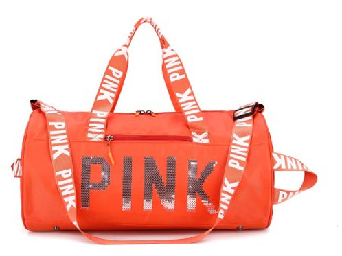 "Orange Sequin""Pink"" Bag"