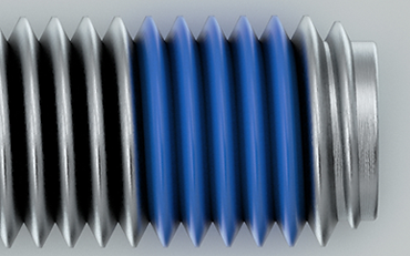 NYLOK® 360° TUF-LOK® Blue Patch on Zinc Plated Steel Machine Screws