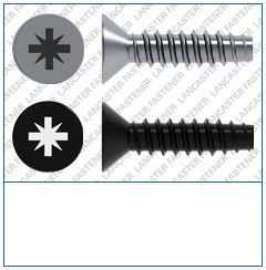 Cross Recess (Z)  Countersunk  Plas-Fix