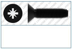 Cross Recess (Z)  Countersunk  DIN 7500