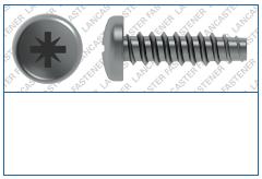 Cross Recess (Z)  Pan  Plas-Fix 45 Screw