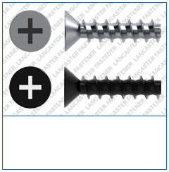 Cross Recess (H)  Countersunk  Plas-Tech