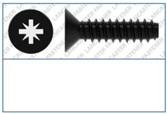 Cross Recess (Z)  Countersunk  Type F  D