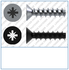 Cross Recess (Z)  Countersunk  Plas-Tech