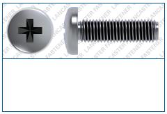Cross Recess (Z)  Pan  DIN 7985 Grade 4.8  Steel Zinc Plated (CR3) CASTLE Brand