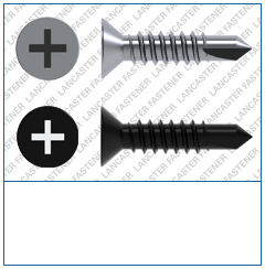 Cross Recess (H)  Countersunk  DIN 7504