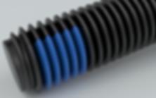 NYLOK® 180° TUF-LOK® Blue Patch on Black Finished Machine Screws