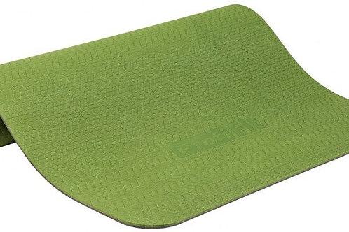Коврик для йоги и фитнеса PROFI-FIT, 6 мм, ПРОФ (зеленый/серый)