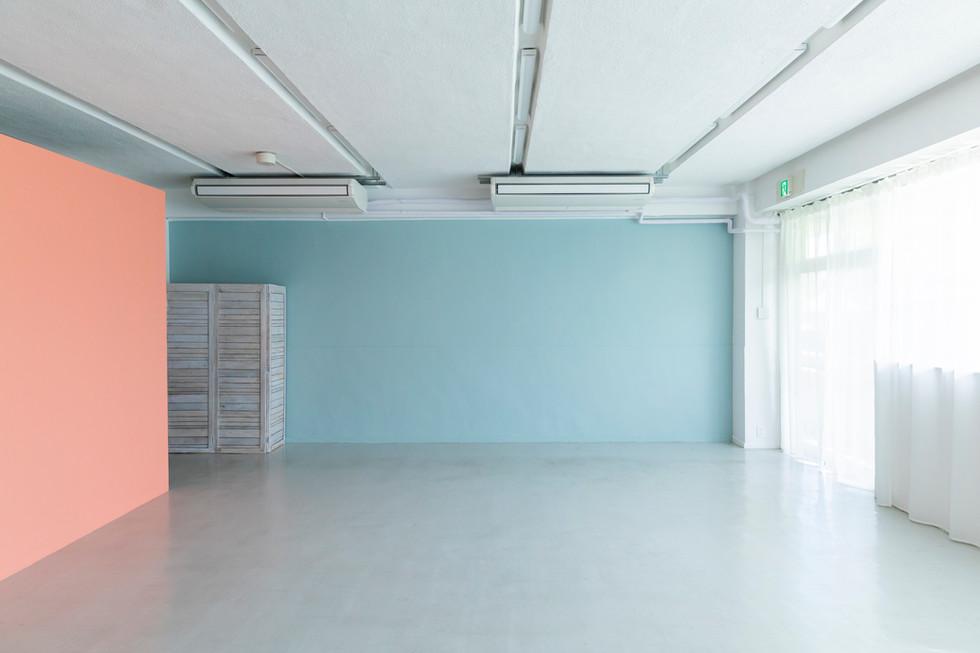 ⑤ペールカラーの壁