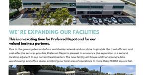 Preferred Depot Announces New Facility