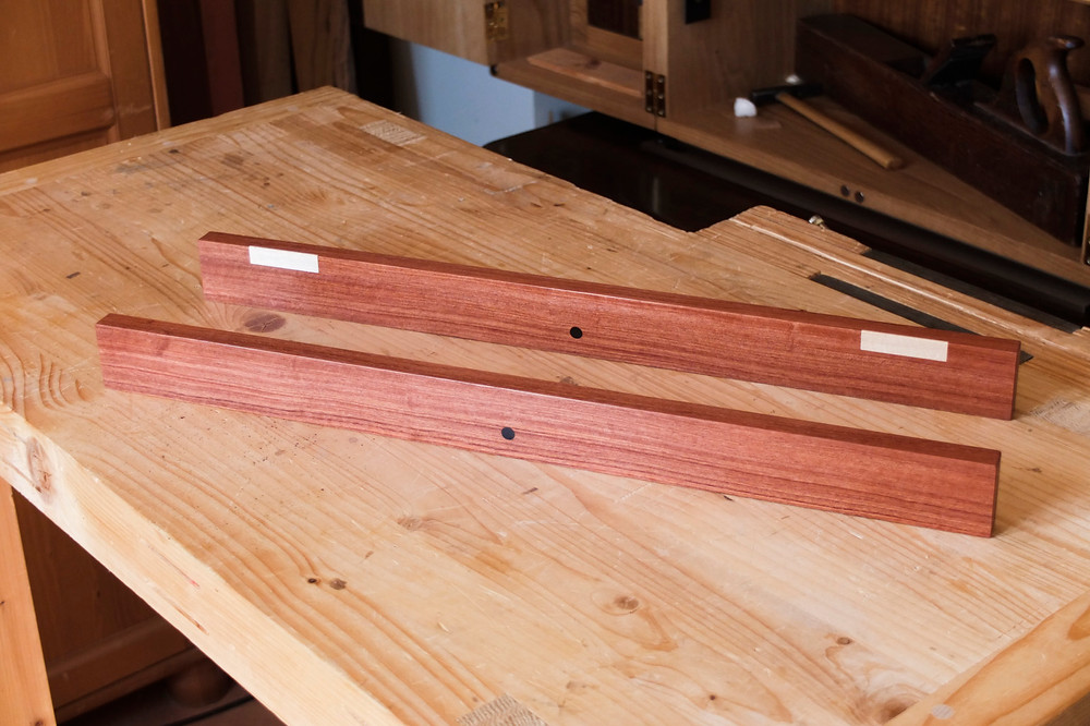 Winding sticks in Mahogany, African Blackwood and Hard Maple