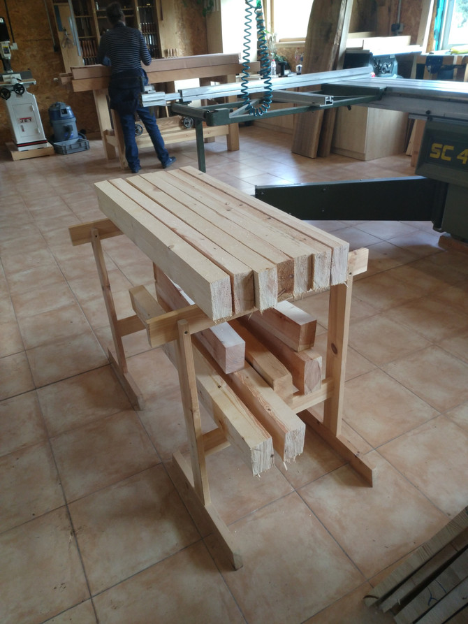 Building workbenches with two students