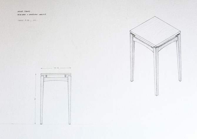 Sketches, plans and scale models