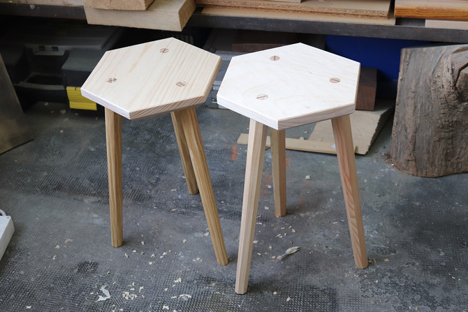New workshop! The hexagonal stool.