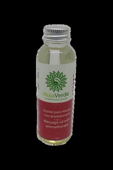 Aceite para masajes con esencias naturales