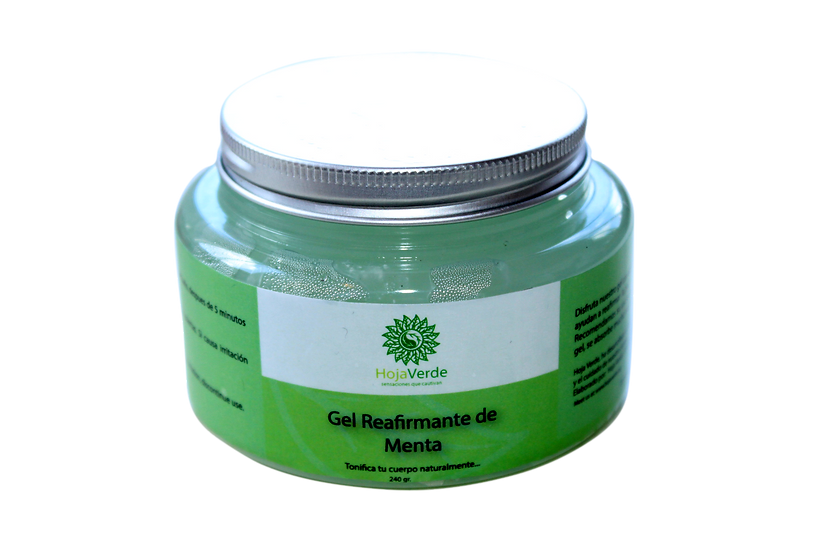 Gel reafirmante de menta