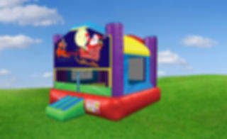Wacky Bounce House with Christmas Banner