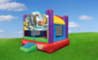Wacky Bounce House with Pirates Banner