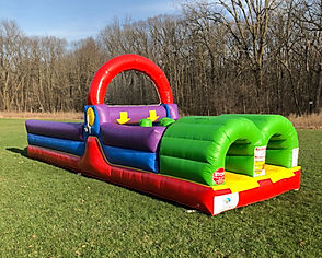 Backyard Obstacle Course Bouce House