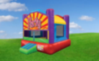 Wacky Bounce House with Party Banner