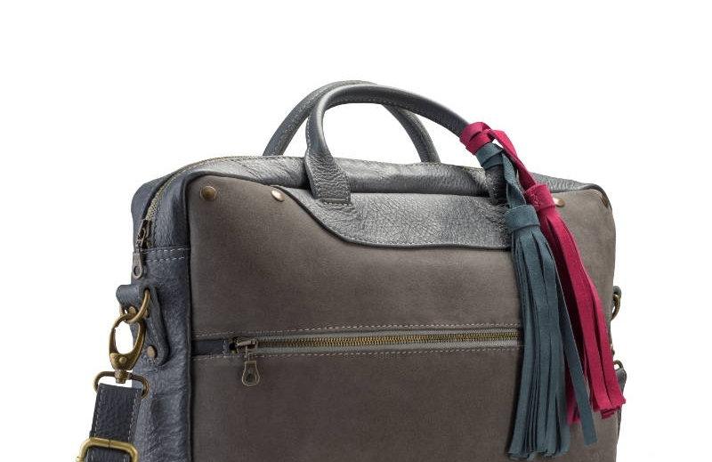 Ręcznie szyta skórzana torba damska na laptopa (np. MacBooka)