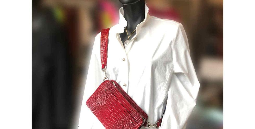 Damska czerwona torebka handmade skóra naturalna torebka polska projektantk