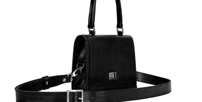 Czarna elegancka damska torebka na ramię lub do ręki
