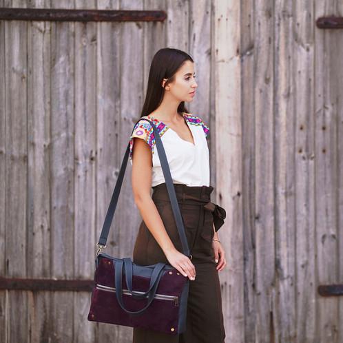 b9b25217bf0cd Oryginalna skórzana torba damska do wielu zastosowań - do biura