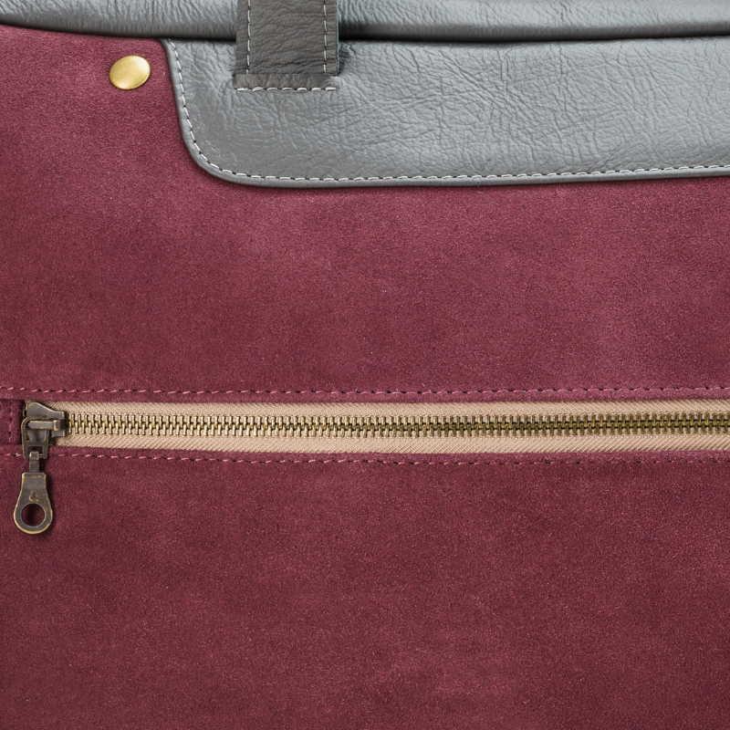 d9ab507a5ca06 Ręcznie szyta skórzana torba damska na laptopa (np. MacBooka)