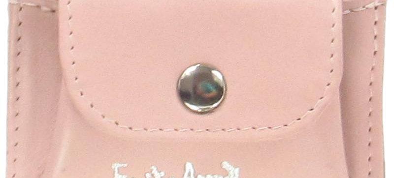 Damski portfel z naturalnej skóry ręcznie szyty polska projektantka pudrowy róż