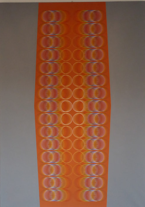 """Optical orange"" par Romano Zanotti"