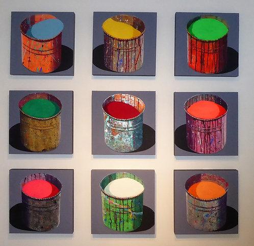 """9 """"Pots de peinture"""" par Stéphane Braud"""