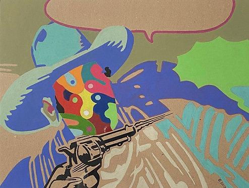 """Cow boy now n°2"" par Patrick Cambolin"