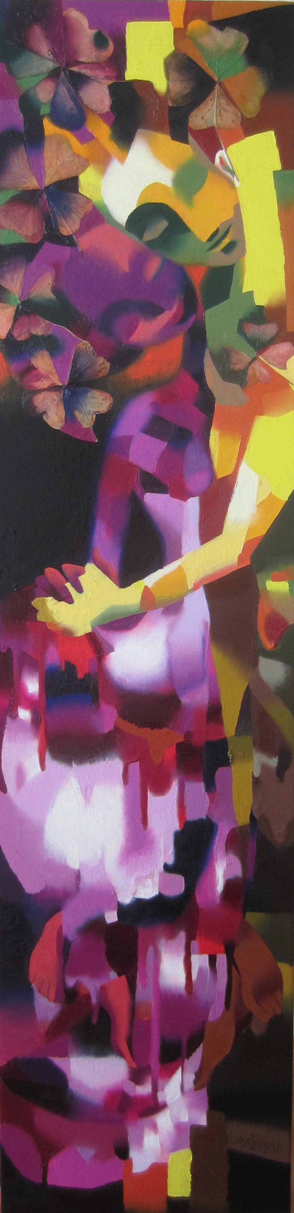 Amour - huile sur toile - 120 x 30