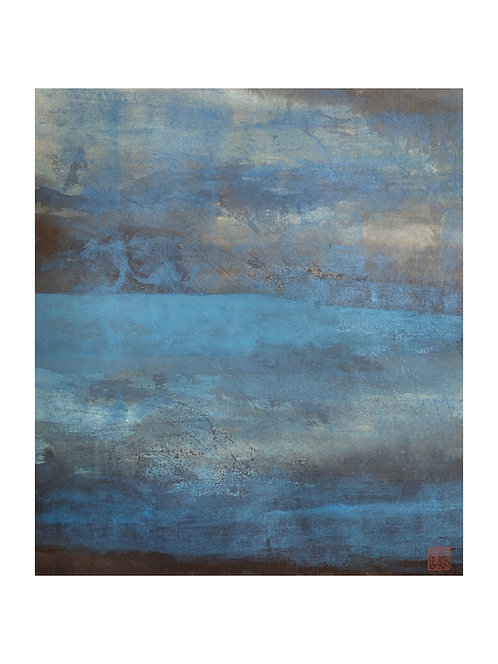 """Montagne bleu N°20"" par TAN Jian-Chung"
