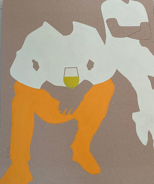 """""""le verre de vin"""" par Patrick Cambolin"""