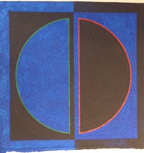 """Sans titre bleu"" par Romano Zanotti"